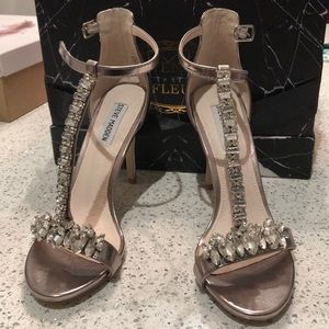 Steve Madden Shoes - Steve Madden Shawna Crystal Heel Sandals NEW